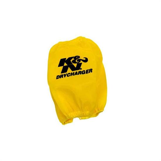 K&N RF-1027DY DryCharger Air Filter Wrap, 8in Tall, Yellow
