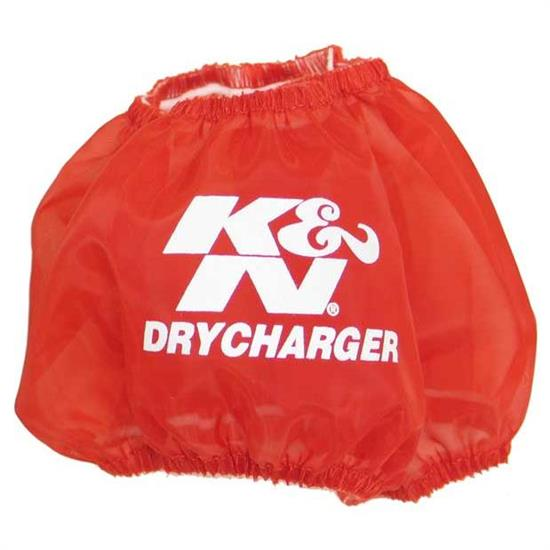 K&N RF-1028DR DryCharger Air Filter Wrap, 3in Tall, Red