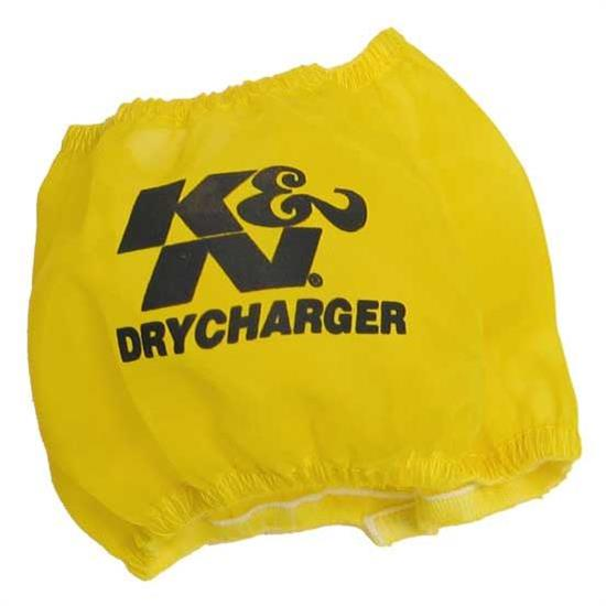 K&N RF-1028DY DryCharger Air Filter Wrap, 3in Tall, Yellow