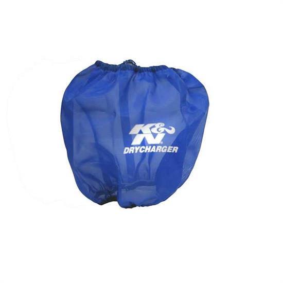 K&N RF-1034DL DryCharger Air Filter Wrap, 7.5in Tall, Blue