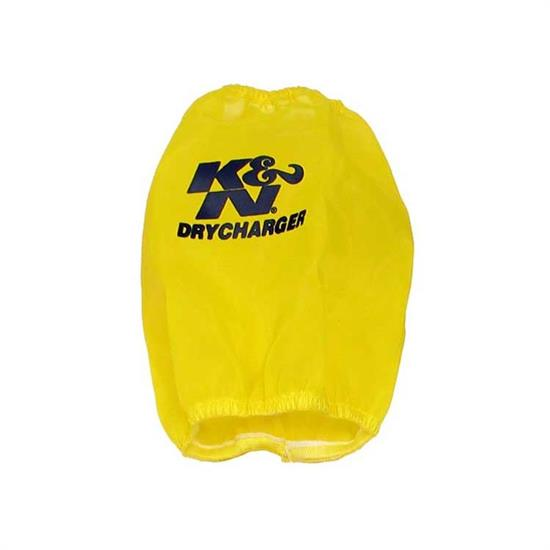 K&N RF-1034DY DryCharger Air Filter Wrap, 7.5in Tall, Yellow