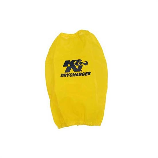 K&N RF-1035DY DryCharger Air Filter Wrap, 6in Tall, Yellow