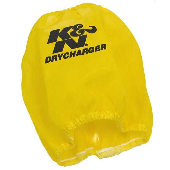 K&N RF-1036DY DryCharger Air Filter Wrap, 6in Tall, Yellow