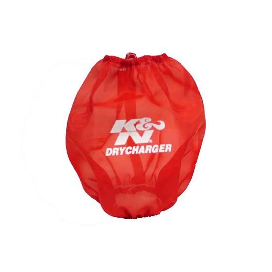 K&N RF-1037DR DryCharger Air Filter Wrap, 6.5in Tall, Red
