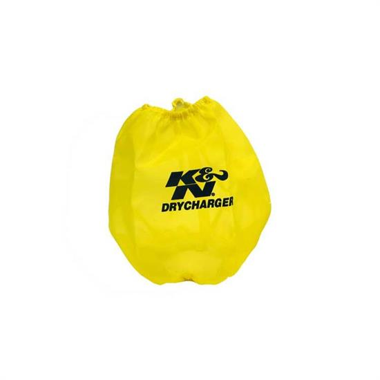 K&N RF-1037DY DryCharger Air Filter Wrap, 6.5in Tall, Yellow