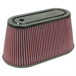 K&N RF-1038 Air Filter, Carbon Fiber Top, 6in Tall, Oval Straight