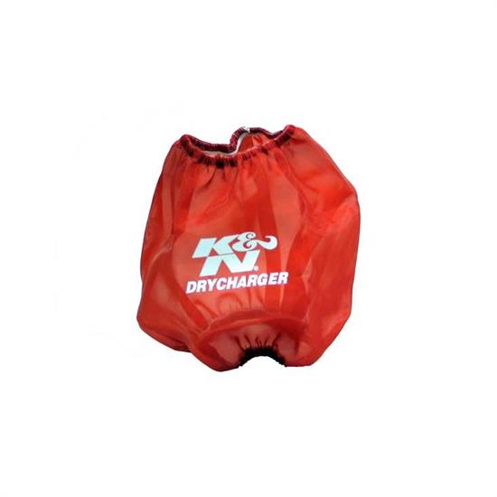 K&N RF-1042DR DryCharger Air Filter Wrap, 6.5in Tall, Red