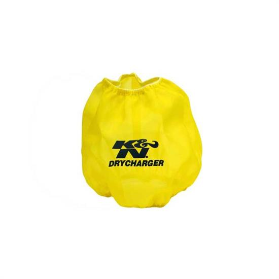 K&N RF-1042DY DryCharger Air Filter Wrap, 6.5in Tall, Yellow