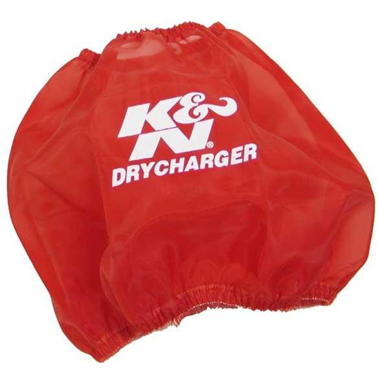 K&N RF-1048DR DryCharger Air Filter Wrap, 6in Tall, Red