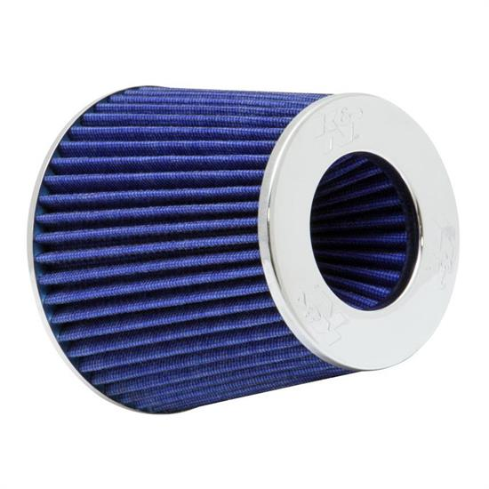 K&N RG-1001BL Performance Air Filters, Blue, 5.5in Tall, Round Tapered