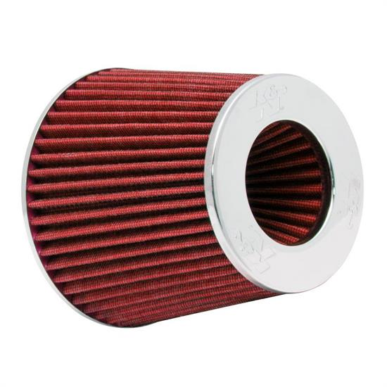 K&N RG-1001RD Performance Air Filters, Red, 5.5in Tall, Round Tapered
