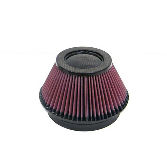 K&N RP-4600 Air Filter, Carbon Fiber Top, 4in Tall, Round Tapered