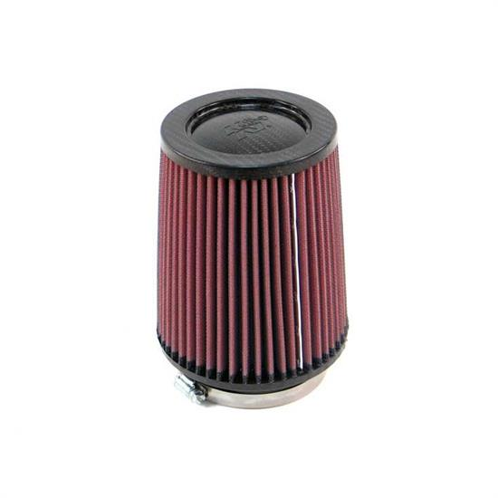 K&N RP-4630 Air Filter, Carbon Fiber Top, 6.5in Tall, Round Tapered