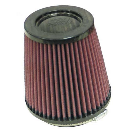 K&N RP-4660 Air Filter, Carbon Fiber Top, 5.5in Tall, Round Tapered