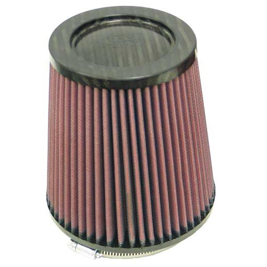 K&N RP-4740 Air Filter, Carbon Fiber Top, 6in Tall, Round Tapered