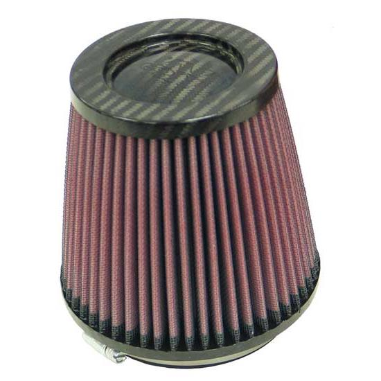 K&N RP-4930 Air Filter, Carbon Fiber Top, 5.063in Tall, Round Tapered