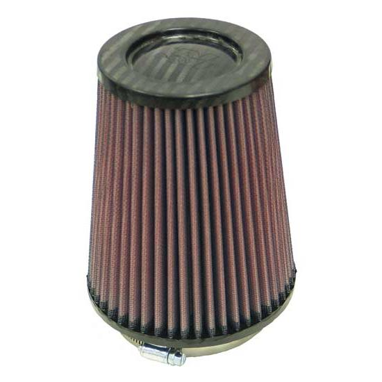 K&N RP-4980 Air Filter, Carbon Fiber Top, 6.5in Tall, Round Tapered