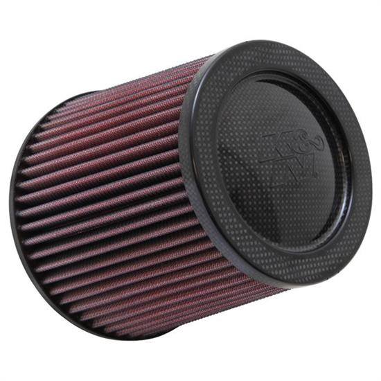 K&N RP-5044 Air Filter, Carbon Fiber Top/Base, 6in Tall, Round Tapered
