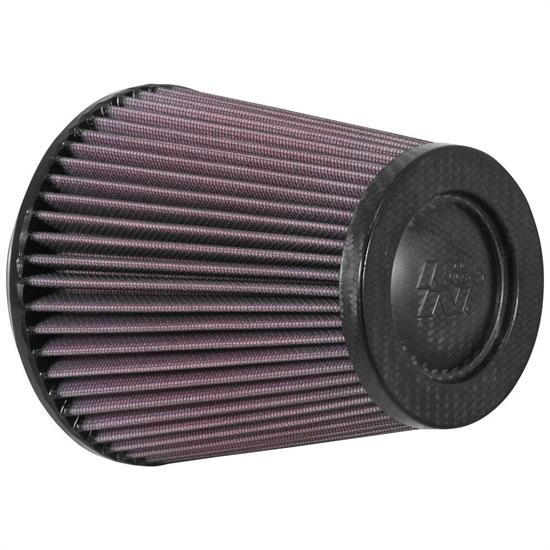 K&N RP-5101 Air Filter, Carbon Fiber Top, 6in Tall, Round Tapered