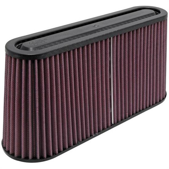 K&N RP-5105 Air Filter, Carbon Fiber Top/Base, 5.75in, Oval Straight
