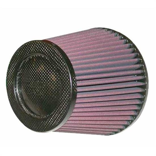 K&N RP-5113 Air Filter, Carbon Fiber Top, 5.625in Tall, Round Tapered
