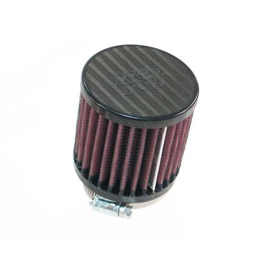 K&N RP-5164 Air Filter, Carbon Fiber Top, 3in Tall, Round