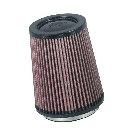 K&N RP-5167 Air Filter, Carbon Fiber Top, 6.75in Tall, Round Tapered