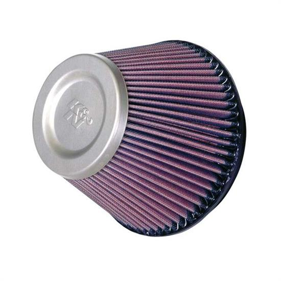 K&N RT-4590 Air Filter - Titanium Top, 5in Tall, Round Tapered