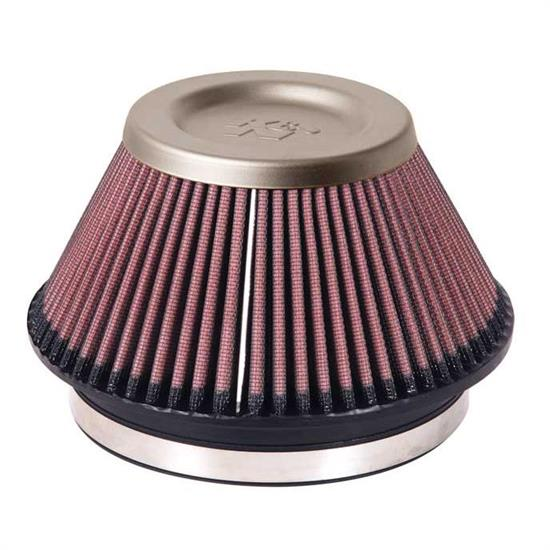 K&N RT-4600 Air Filter - Titanium Top, 4in Tall, Round Tapered