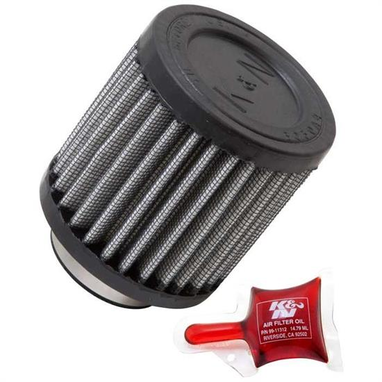 K&N RU-0155 Performance Air Filters, 3in Tall, Round Straight