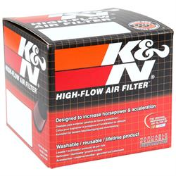K&N RU-0500 Performance Air Filters, 4in Tall, Round