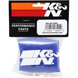 K&N RU-0510PL PreCharger Air Filter Wrap, 5in Tall, Blue