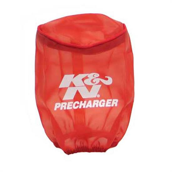 K&N RU-0510PR PreCharger Air Filter Wrap, 5in Tall, Red
