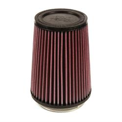 K&N RU-2590 Performance Air Filters, 7in Tall, Round Tapered