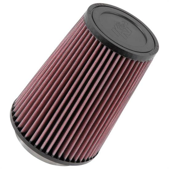 K&N RU-2710 Performance Air Filters, 6.5in Tall, Round Tapered