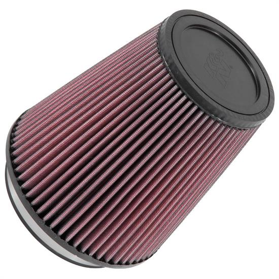 K&N RU-2800 Performance Air Filters, 7in Tall, Round Tapered