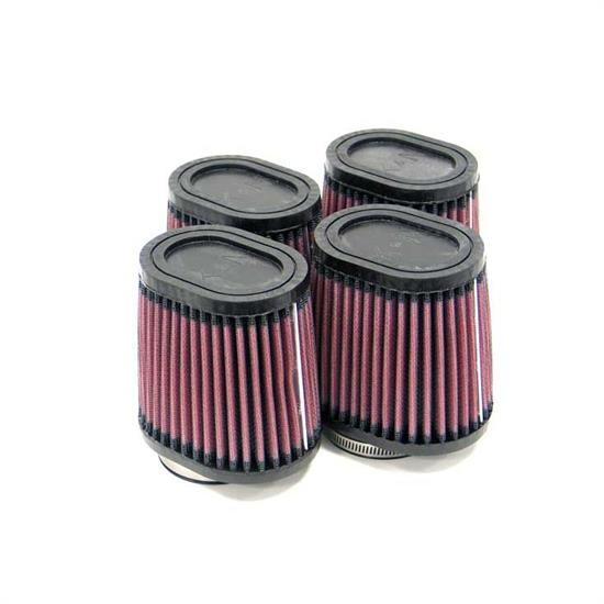 K&N RU-2814 Performance Air Filters, 4in Tall, Oval Straight
