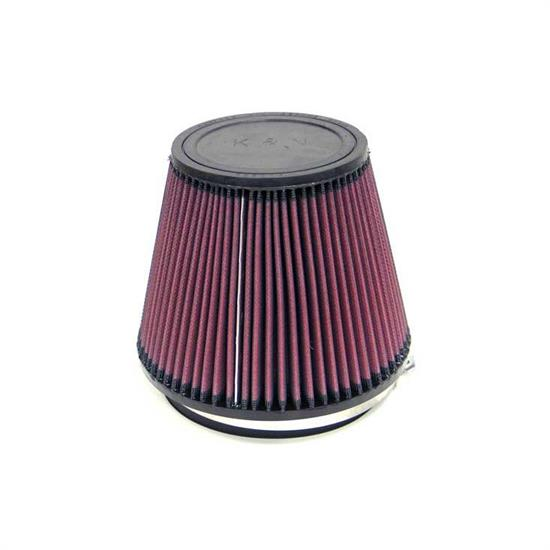 K&N RU-3100 Performance Air Filters, 6in Tall, Round Tapered
