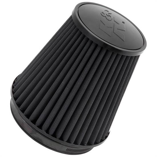 K&N RU-3101HBK Black Series Rubber Filter, 7.5in Tall, Round Tapered