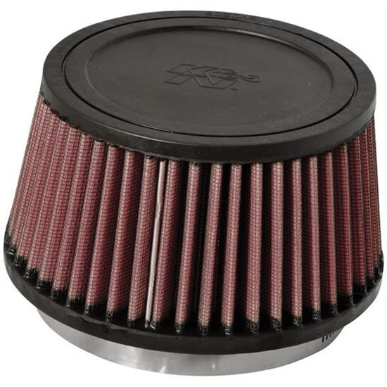 K&N RU-3110 Performance Air Filters, 3.25in Tall, Round Tapered