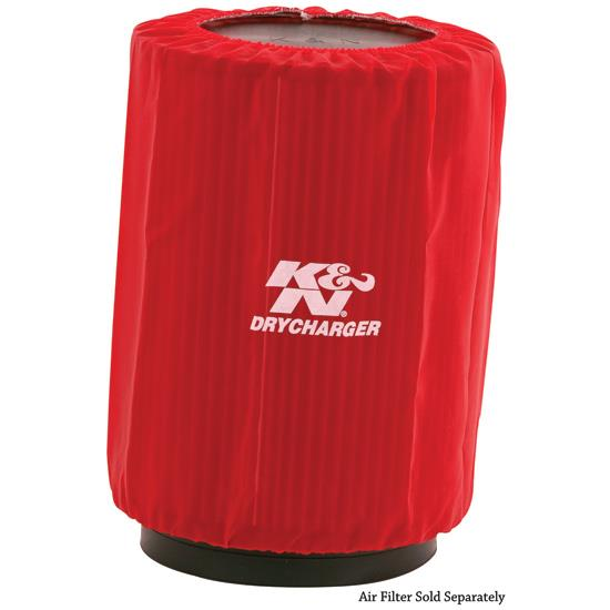 K&N RU-3270DR DryCharger Air Filter Wrap, 10in Tall, Red