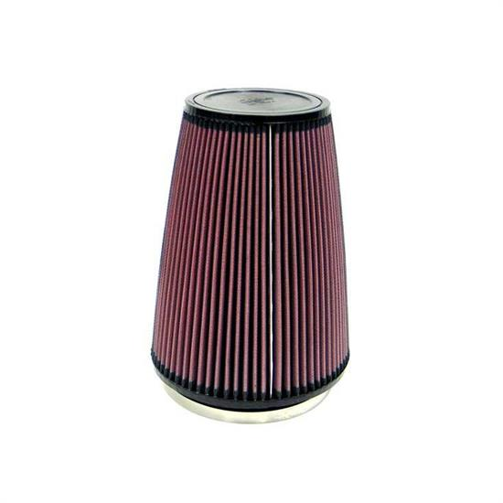 K&N RU-3280 Performance Air Filters, 10in Tall, Round Tapered