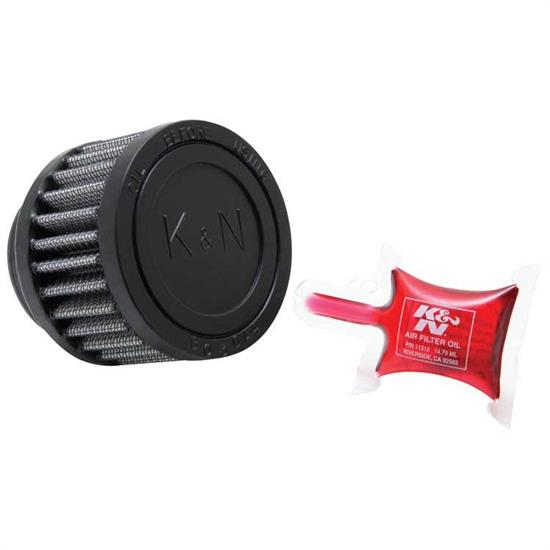 K&N RU-3350 Performance Air Filters, 2in Tall, Round Straight
