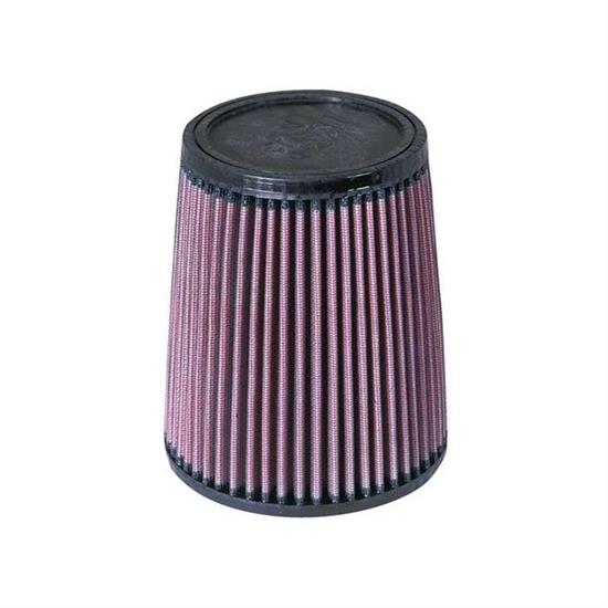 K&N RU-3610 Performance Air Filters, 7in Tall, Round Tapered