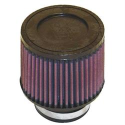 K&N RU-3700 Performance Air Filters, 4in Tall, Round Tapered