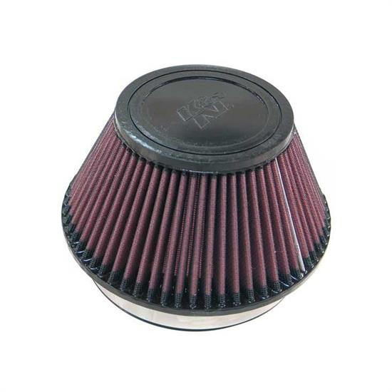 K&N RU-4600 Performance Air Filters, 4in Tall, Round Tapered