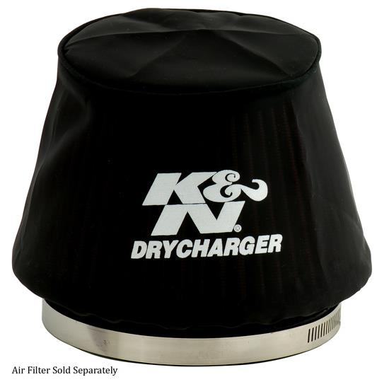 K&N RU-5163DK DryCharger Air Filter Wrap, 4.125in Tall, Black