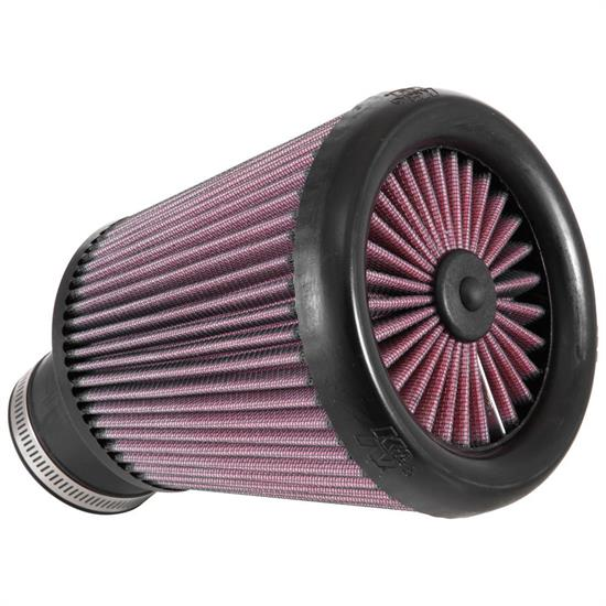 K&N RX-3770 X-Stream Clamp-On Air Filter, 6.563in Tall, Round Tapered