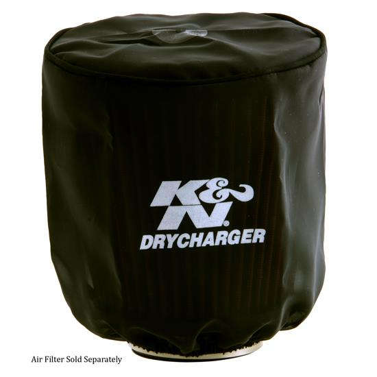 K&N RX-3810DK DryCharger Air Filter Wrap, 6.125in Tall, Black