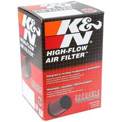 K&N RX-5090 X-Stream Clamp-On Air Filter, 5.563in Tall, Oval Straight